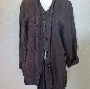 Flax Sweaters - FLAX button down Cardigan 100% Linen